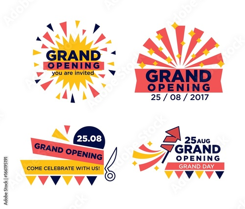 Fotomural Set of grand opening announcements