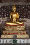 Golden Buddha Statue in the Suthad temple in Bangkok, Thailand