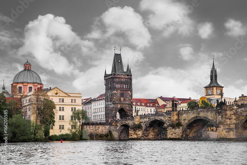 Foto op Aluminium Eiffeltoren Prague is the capital of the Czech Republic, the European state. Historical sights.