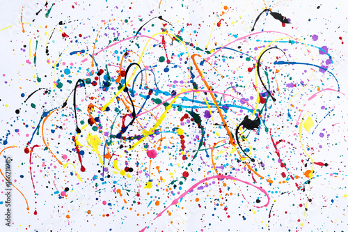 Abstract art creative background.Abstract art of splashes and drips watercolour background.