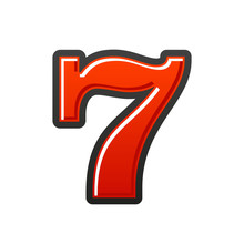 Slot Machine Lucky Seven. Red ...