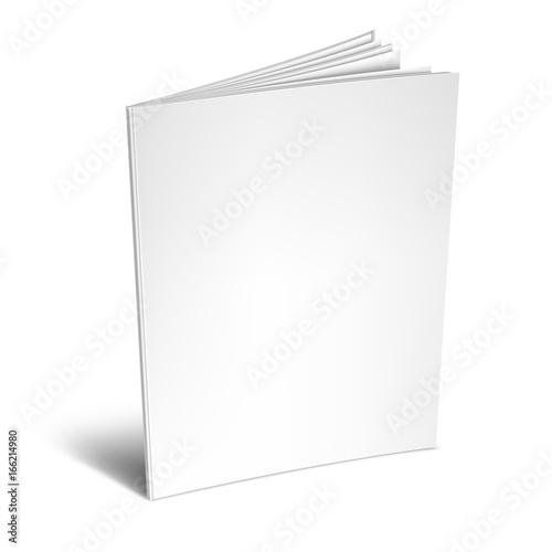 Valokuvatapetti Empty White Book or Magazine