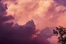 Purple Clouds Before Storm