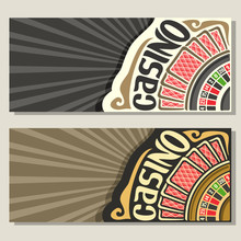 Vector Gamble Banners For Casi...