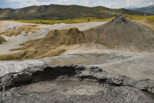 Deurstickers Droogte Mud volcanoes also known as mud domes in summer season