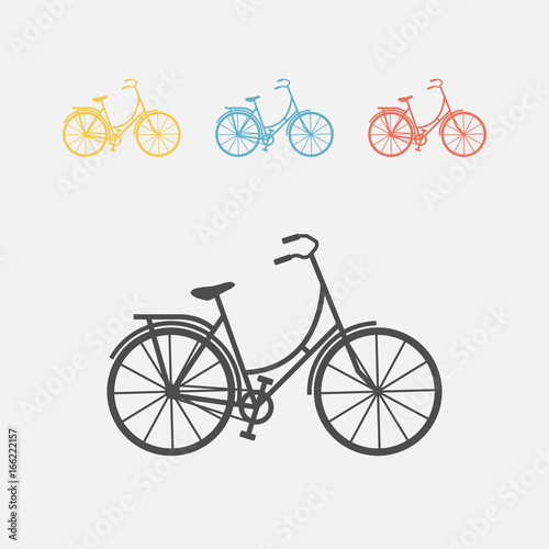 Bicycle icon Canvas Print