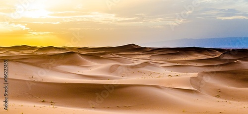 Foto auf Leinwand Marokko Tramonto nel Deserto