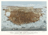 San Francisco, California, Old aerial view. By Parsons & Charles,  Publ.  McQuillan (agent Currier & Yves), San Francisco, 1878 - 166228177