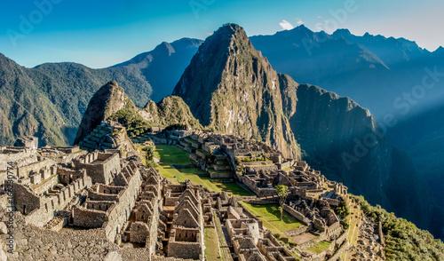 Machu Picchu panoramic view at sunrise