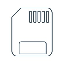 Micro Memory Card Icon Isolated On White Background.vector Illustration Icon