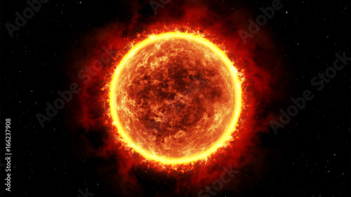 Giant star, realistic 3D graphics