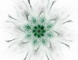 Cząstki abstrakcyjnych form fraktalnych na temat nauki fizyki jądrowej i projektowania graficznego. Geometria święta futurystyczna - 166238104
