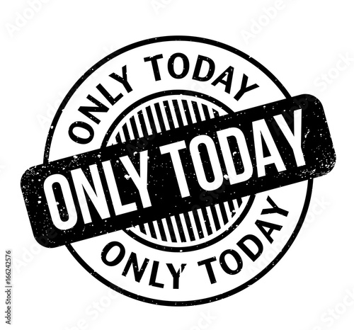Only Today rubber stamp Canvas Print