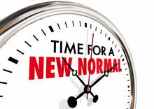 Time For A New Normal Change Clock Hands Ticking 3d Illustration.jpg
