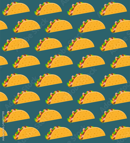 Mexican fast food seamless pattern with