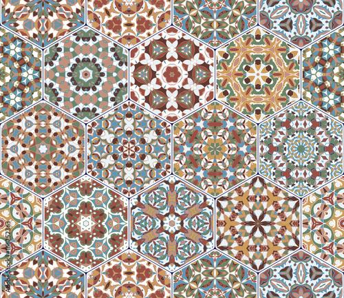 wektorowy-ustawiajacy-heksagonalni-wzory