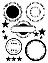 Random Circle Star Frames