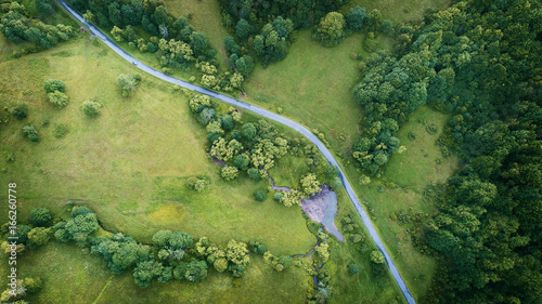 Tuinposter Luchtfoto Aerial landscape
