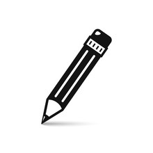 Pencil Icon. Vector Isolated S...