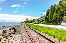 Railroad With Saint Lawrence R...