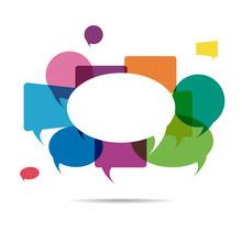 Colorful Speech Bubble Copyspace Background. Vector Illustration