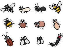 害虫 デフォルメ 蚊...