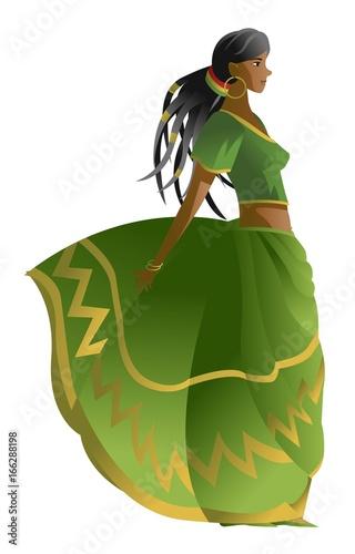 Fotografie, Obraz  dreadlocks rasta african girl