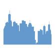 Urban city building icon