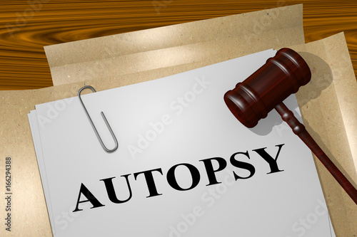 Photo Autopsy - legal concept