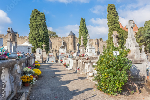 Foto op Canvas Begraafplaats cimetière de Carcassonne, France