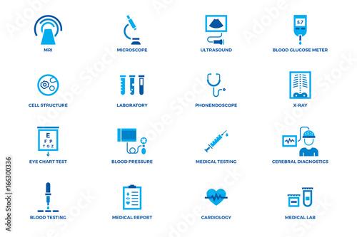 Medical Diagnostic Vector Icon Set