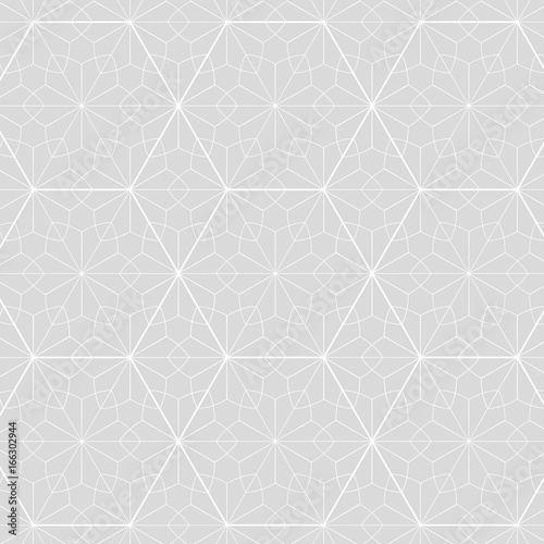 Japanese background vector. Gray geometric pattern. Triangle shape, Line.
