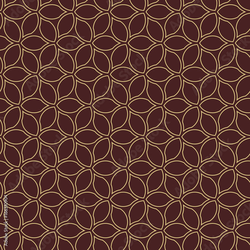 Fototapety, obrazy: Seamless brown and golden background for your designs. Modern ornament. Geometric abstract pattern