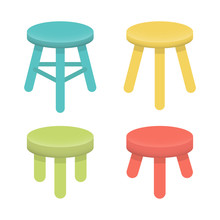 Different Stool With Three Leg...
