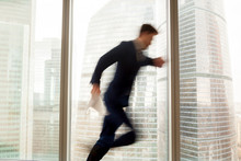 Busy Businessman Hurrying Up T...