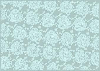 Pattern blue-gray roses
