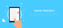 Survey Research. Make A Choice On The Tablet
