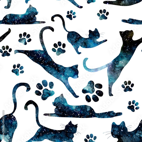 bezszwowy-wzor-akwareli-gwiazdzisty-niebo-i-koty