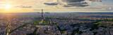 Fototapeta Fototapety Paryż - Skyline of Paris with Eiffel Tower in Paris, France