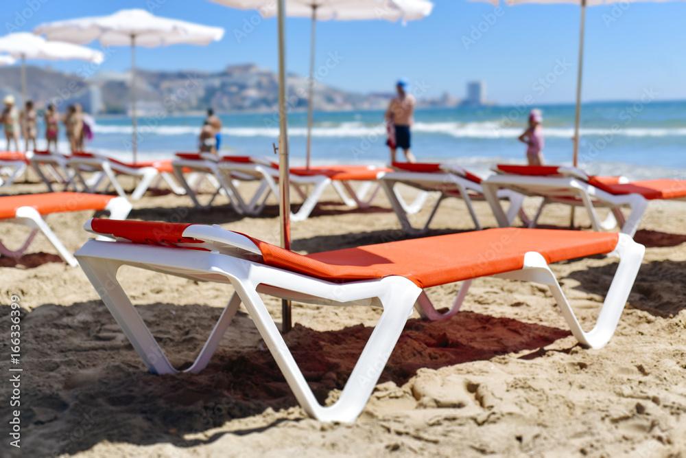 San Antonio Beach in Cullera, Spain Poster