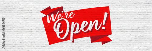 We're open ! Tapéta, Fotótapéta