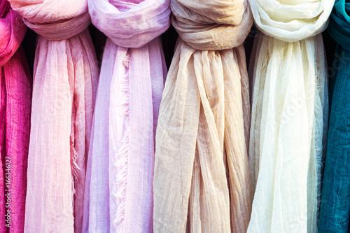 Fotografie, Obraz  colorful scarf in the market.