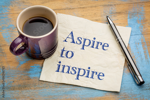 aspire to inspire napkin note Canvas Print