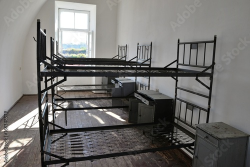 Historic fortress Modlin beds for soldiers in the barracks Wallpaper Mural
