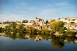 La ciudad de Zamora desde el puente de piedra sobre el río Duero