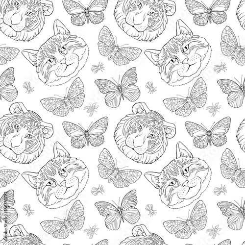 Tiger zentangle coloring sheets Zentangle coloring pages stock ... | 500x500
