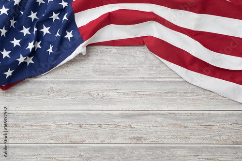 Photo American flag for Memorial Day, 4th of July, Labour Day