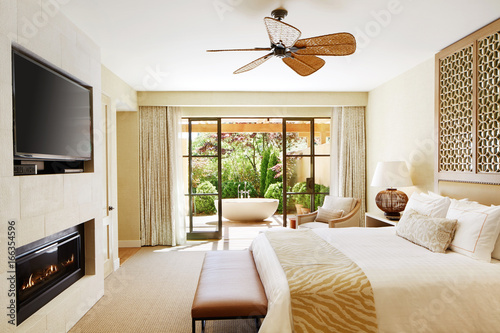 Luxury hotel room in California
