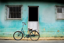 An Old Bicycle In Cuba