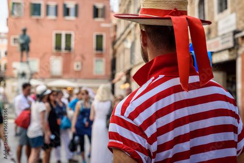 Fotografie, Obraz Venice Gondolier